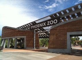 Phoenix Zoo – Main Entry and Ticketing